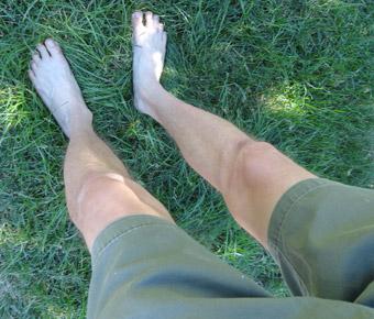 Wearing shorts