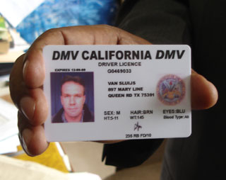 A bad guy's fake driver's license