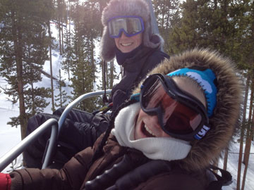 On the chairlift at SolVista