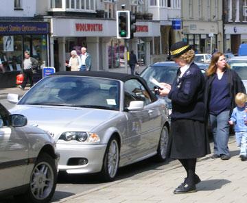 british parking officer