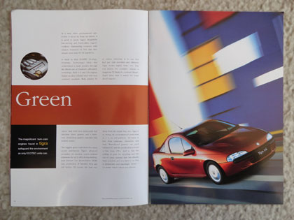 1995 Vauxhall Tigra car spread