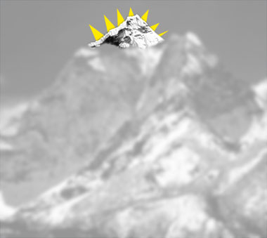 The top of Mt Everest