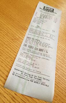 a long receipt