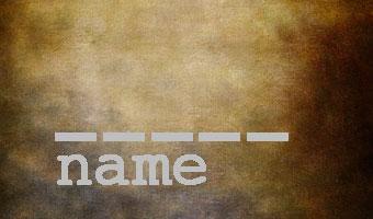 missing name