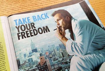 Blu e-cigarette ad