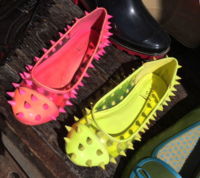 spiky shoes