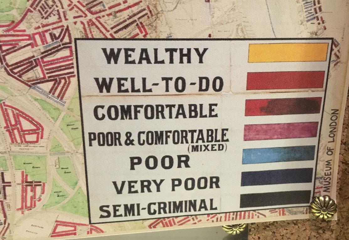 Categories of wealth in London