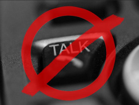 don't talk illustration
