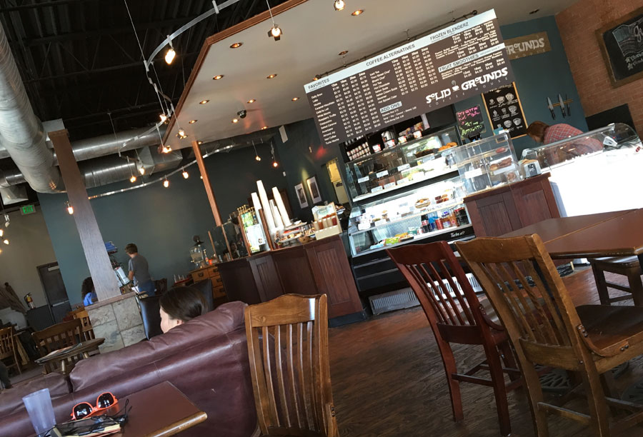 the interior of Solid Grounds Coffee Shop