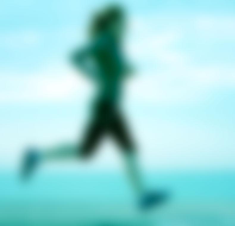 blurred runner