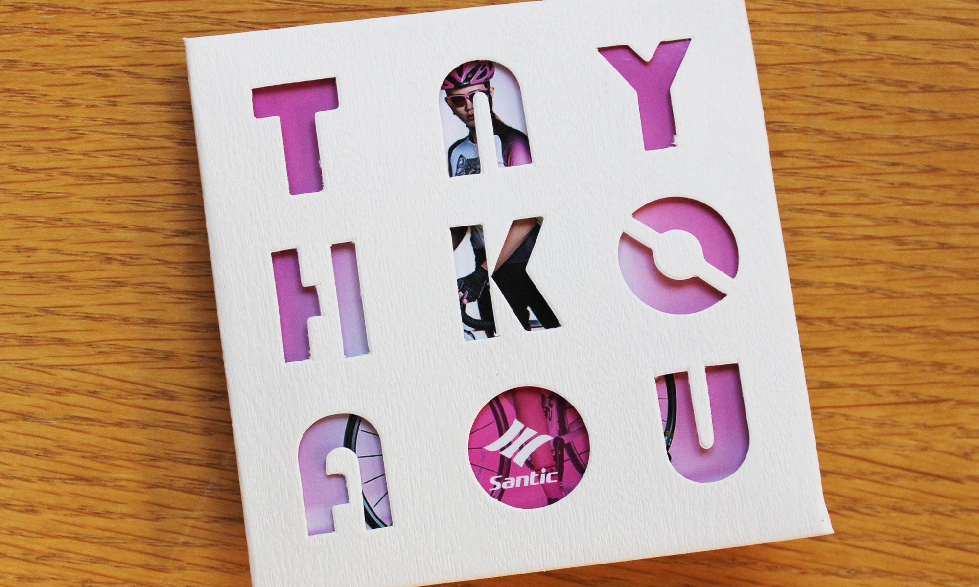 thank you card, written weirdly