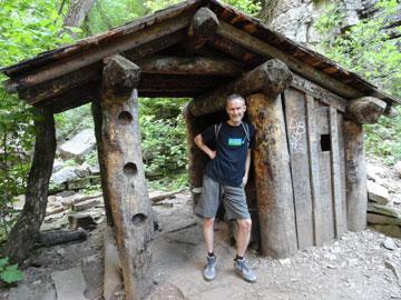 Paul Merrill on a hiking trip