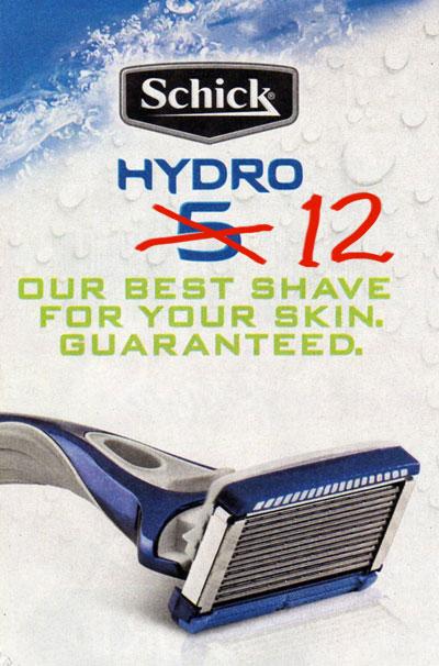 Schick 12-blade razor