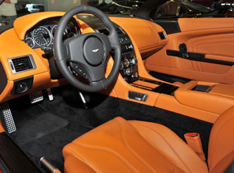 Aston Martin DBS Volante Carbon Edition interior, courtesy of Elite Choice
