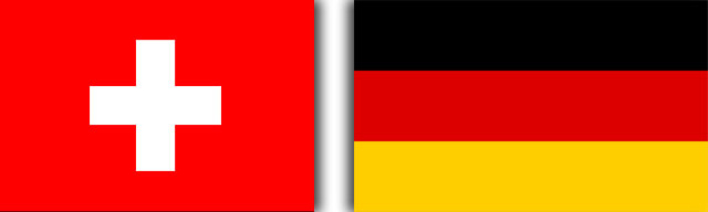 Switzerland-Germany Flags