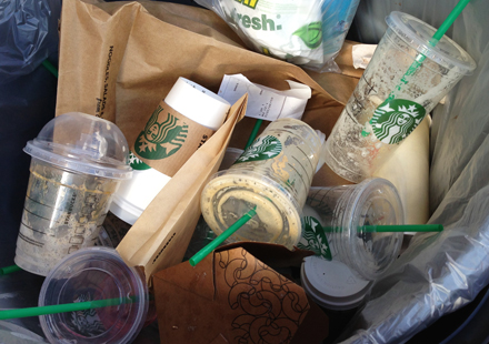 Starbucks plastic waste