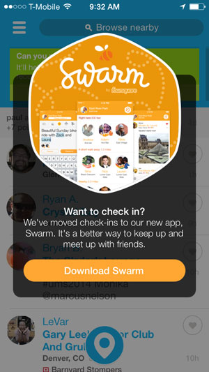 swarm app download request screen shot