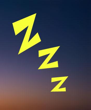 dreams - z's over a night sky