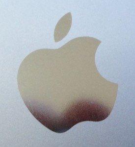 Back of iPhone showing apple logo