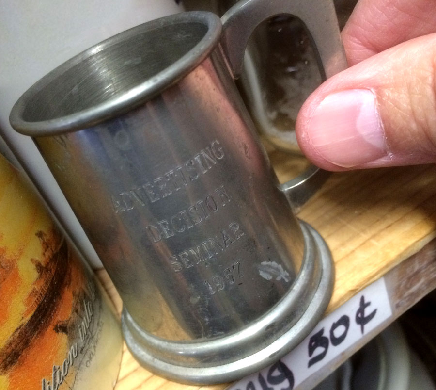 tiny promotional mug from 1967