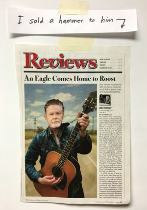 Don Henley in Rolling Stone Magazine