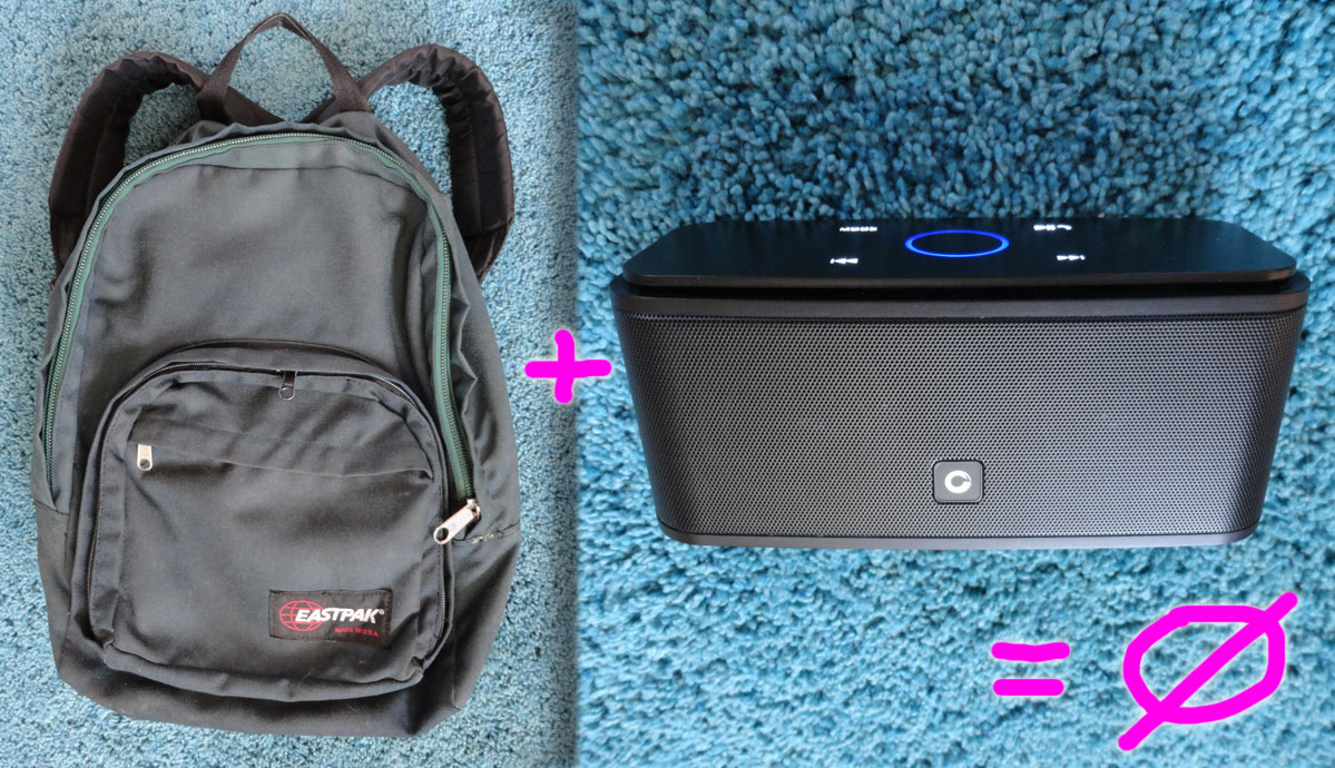 backpack with bluetooth speaker