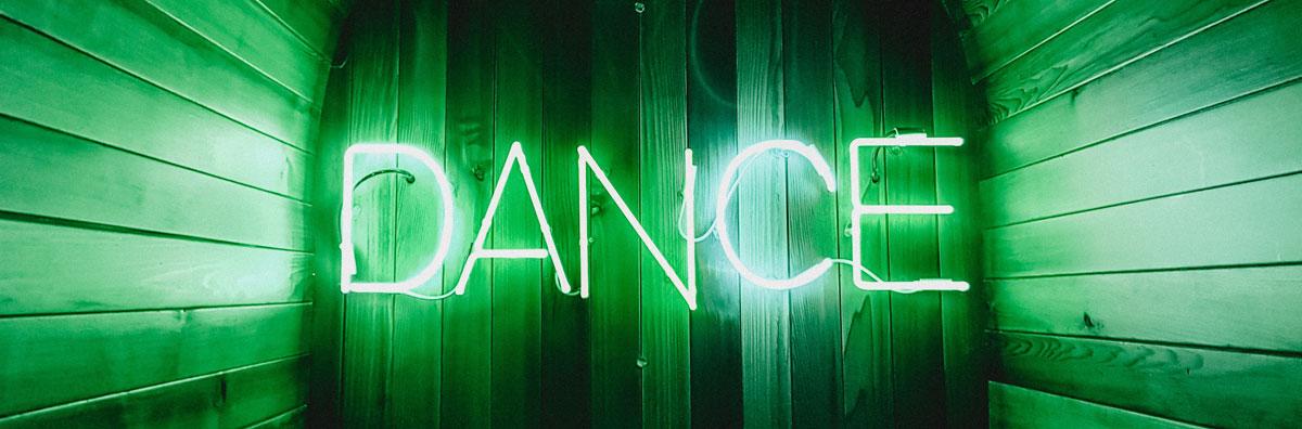 dance neon sign