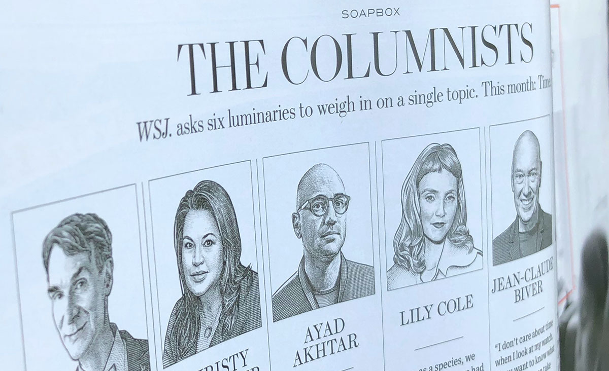 Wall Street Journal Columnists - photo of magazine spread