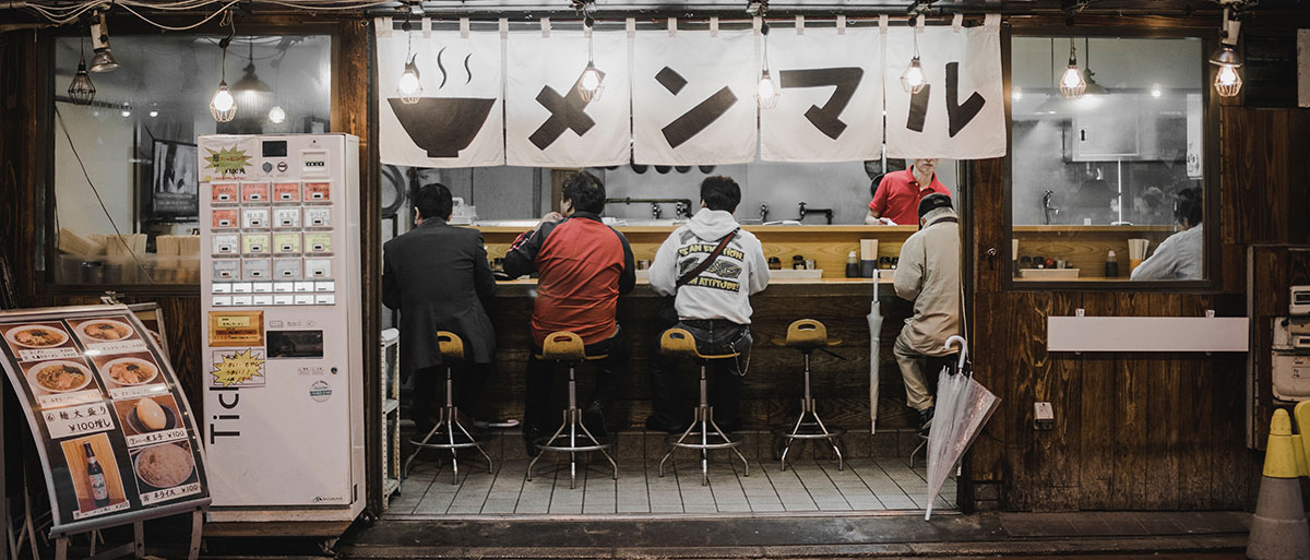 Sit-down small restaurant in Japan - courtesy of bantersnaps on Unsplash
